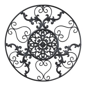 Cast Iron Victorian Style Medallion Metal Wall Art