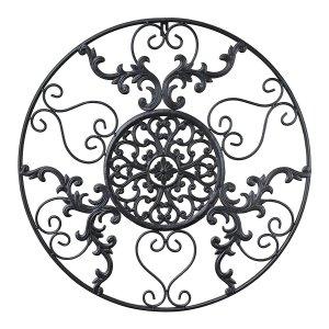 Cast Iron Victorian Style Medallion Metal Wall Art