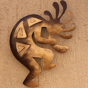 Kokopelli Peace Southwestern Metal Wall Art by NOVICA