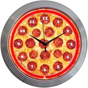 Neonetics Retro Pepperoni Pizza Neon Clock