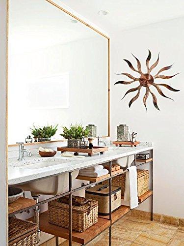"Southwest Desert Sun | 32"" Distressed Copper Metal Wall Art"