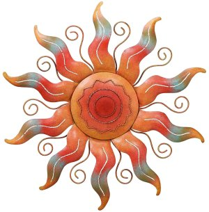 Southwestern Spiral Sun Metal Wall Art