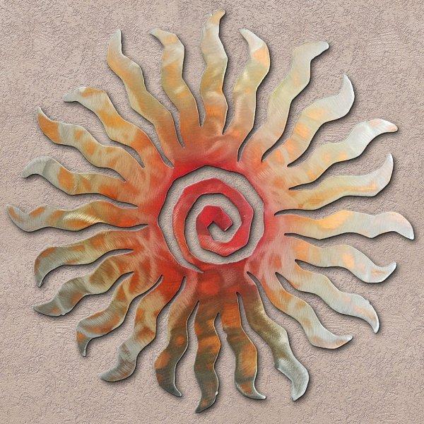 Sunset Swirl 24 Point Sunburst Metal Wall Art