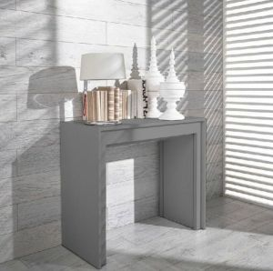 Wade Logan | Gerardo Ultra-Compact Extendable Dining Table | Gray