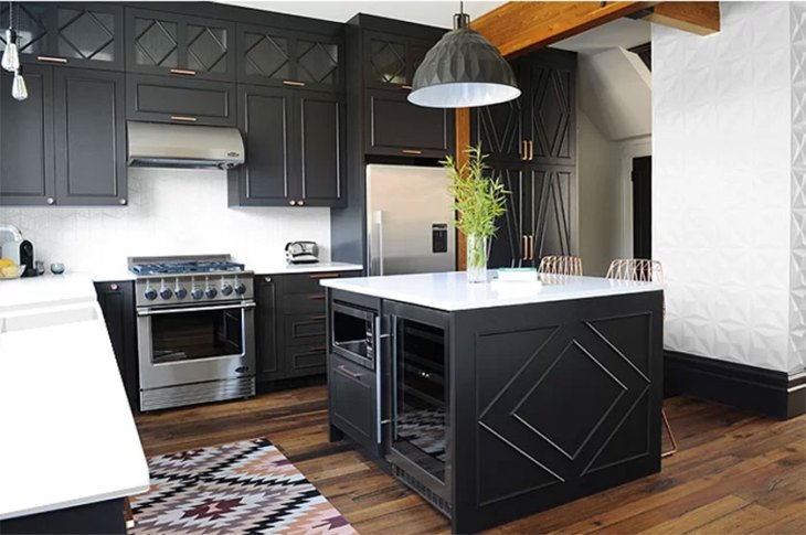 Black & White Industrial Kitchen