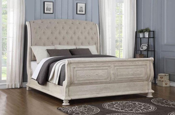Upholstered Sleigh Beds | Piland King Bed