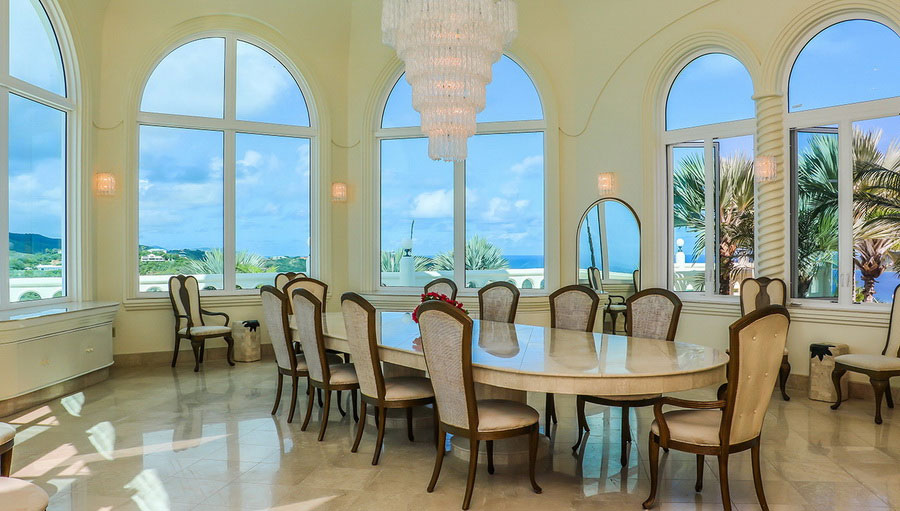 Fairytale Castle in the Virgin Islands: Dining Room