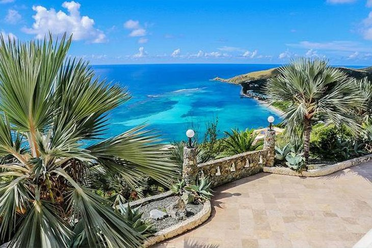 Views from Bulgarian Contessa Nadia Farber's Virgin Islands Castle
