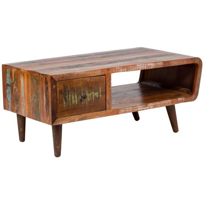 Retro Wood Coffee Tables   Bloomsbury Market   Paloma Sustainable Coffee Table