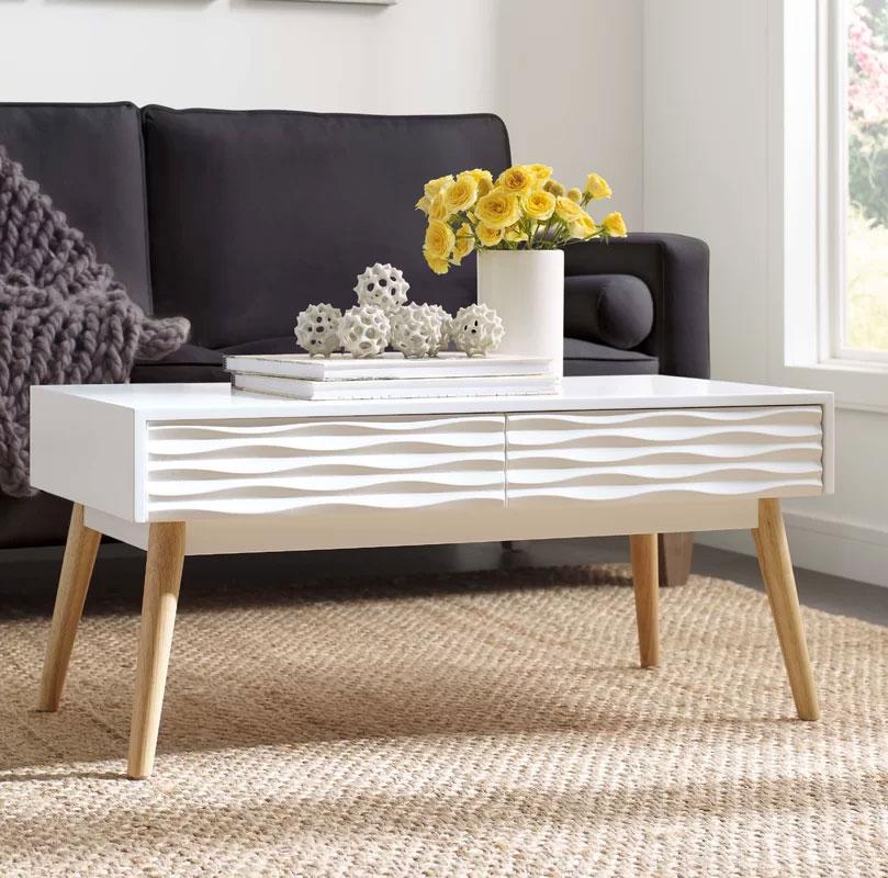 Retro Wood Coffee Tables | Elle Decor | Aurie Coffee Table