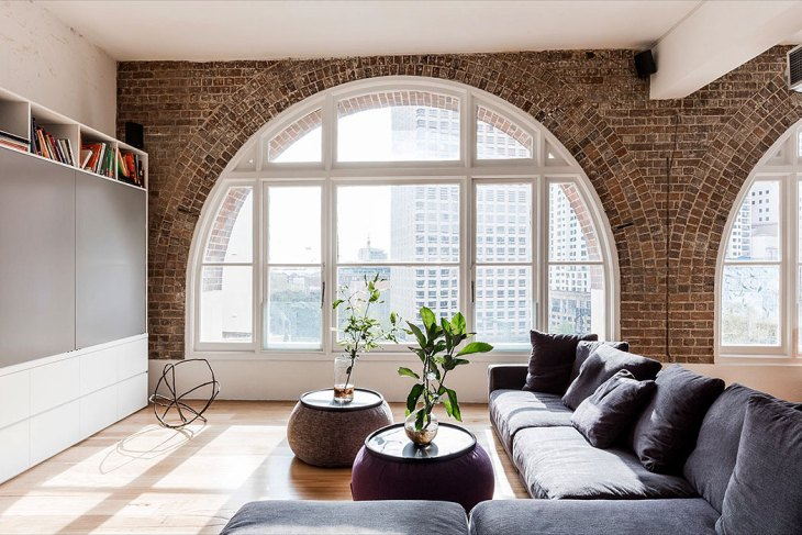 Arched Brick Windows by Josephine Hurley