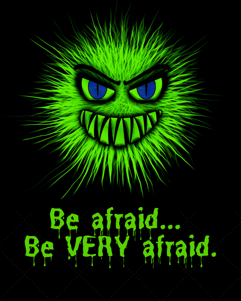 Be Afraid Printable Halloween Decor