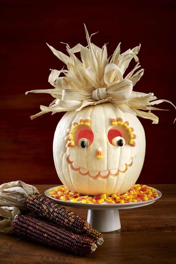 Creative Pumpkin Carving Ideas | Candy Corn Carved Pumpkin