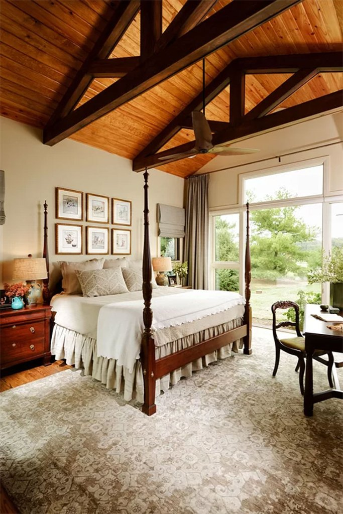 Classic Country Cabin Bedroom