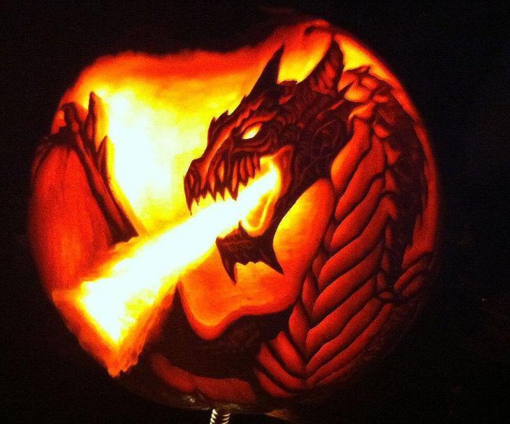 Fire Breathing Dragon Pumpkin