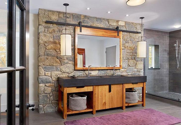 Industrial Stone Bathroom