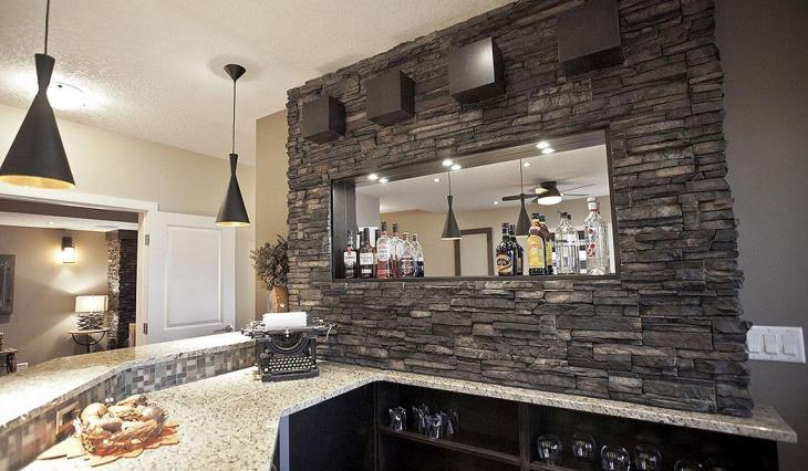 Modern Stone Kitchen Bar