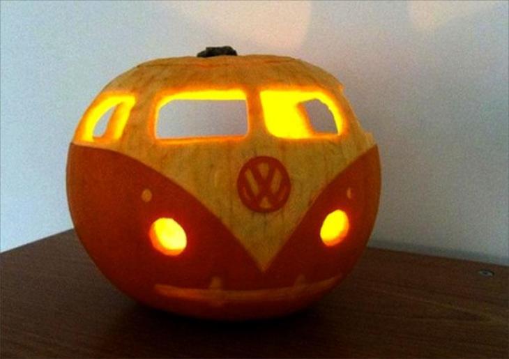Pumpkin Carving Ideas VW Bus