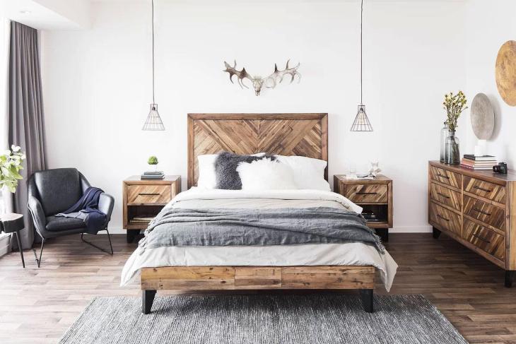 Rustic Antler Bedroom