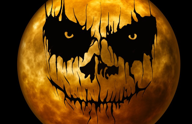 Scary Moon Face Halloween Printable