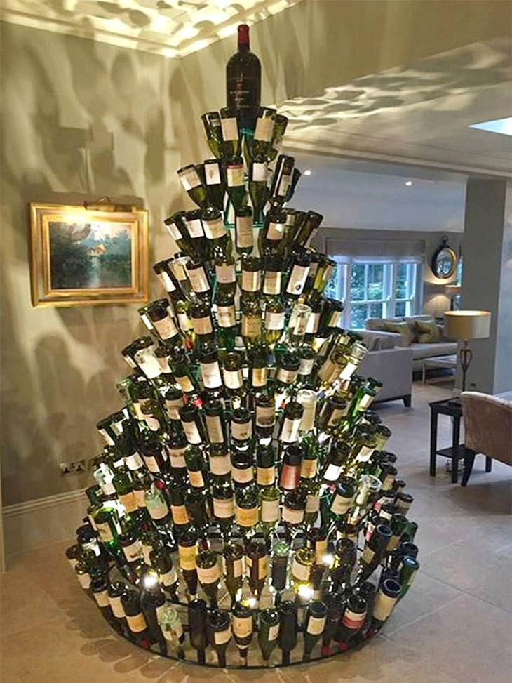 The Wine Bottle Christmas Tree