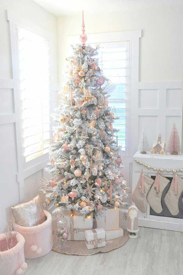 Blush Pink Christmas Tree