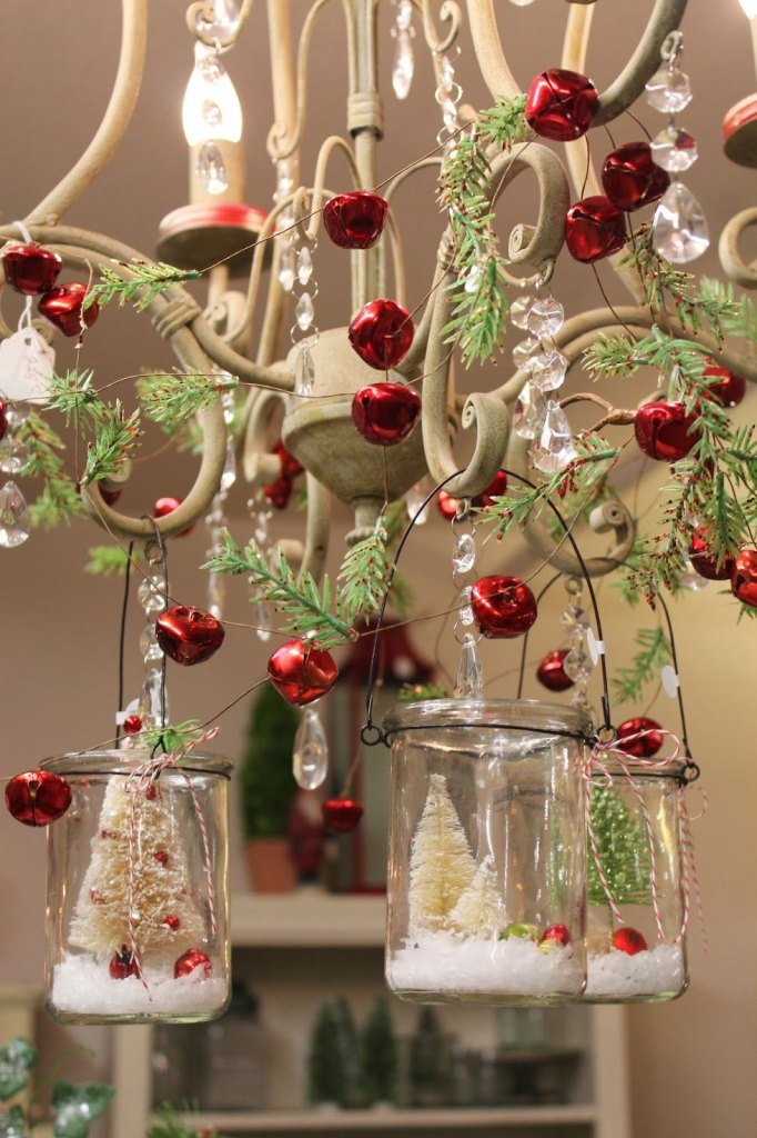 Chandelier with French Country Christmas Charm