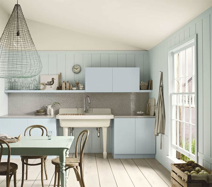 Coastal Cottage Blue Kitchen