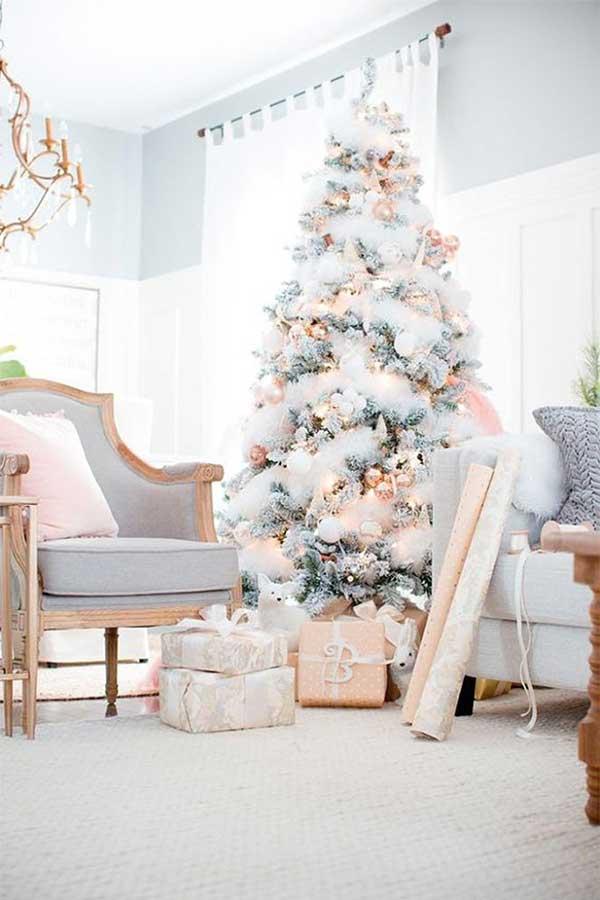 Glam Flocked Christmas Tree