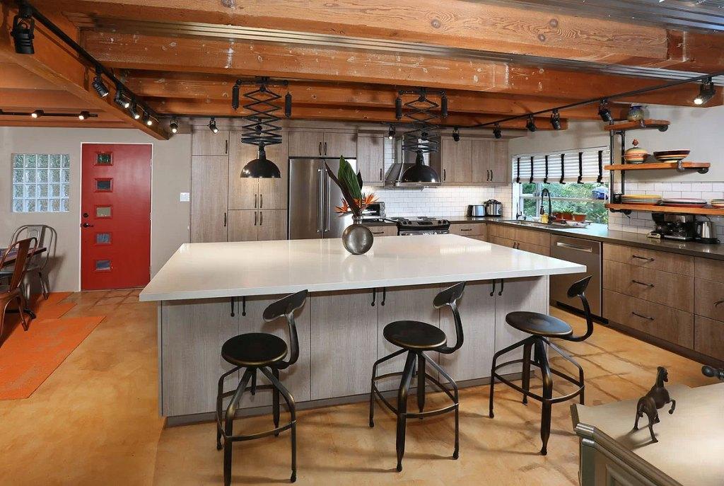 Hip Industrial Kitchen Reno in Echo Park