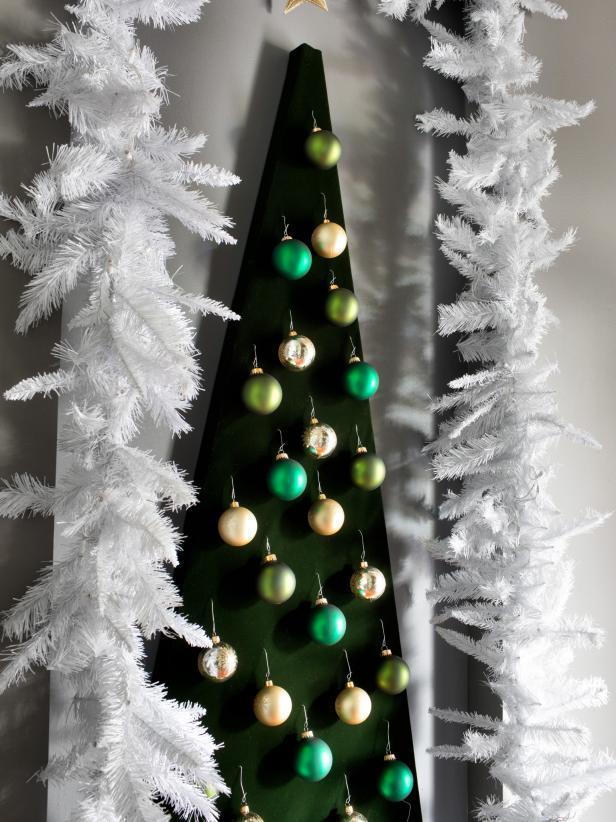 Modern Wall-Mounted Christmas Tree Alternative