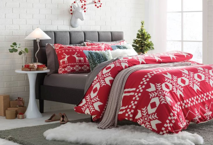Red Christmas Bedroom