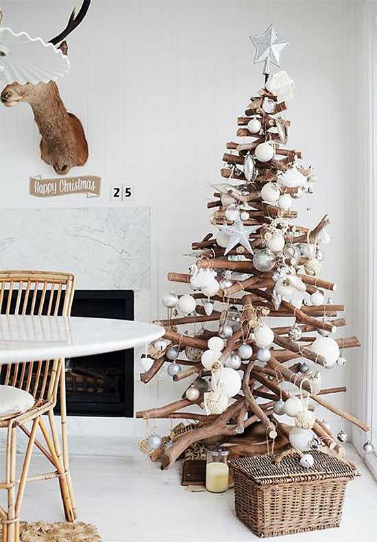 Rustic Branches DIY Christmas Tree