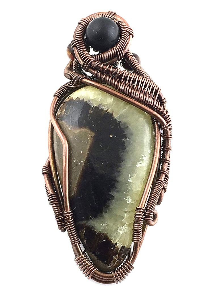 Septarian Stone Pendant Necklace