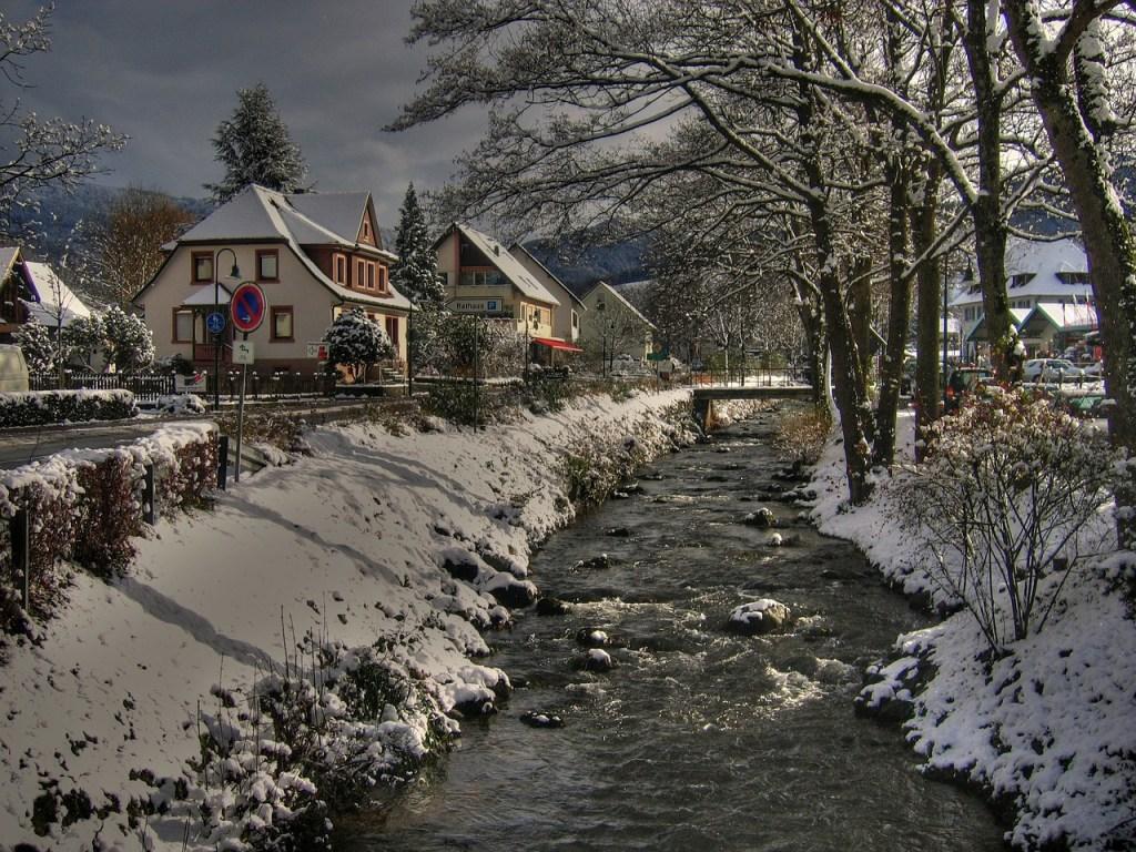 Black Forest Village Winter Scene
