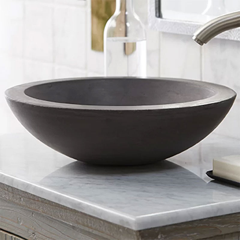 Morro Stone Circular Vessel Bathroom Sink