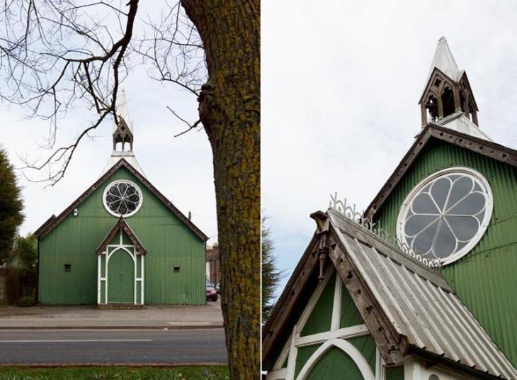 Victorian Tin Chapel in Faversham, England