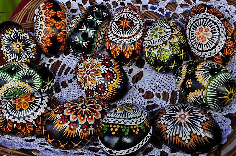 Black Painted Easter Eggs