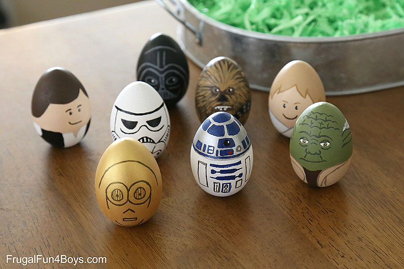 Star Wars Characters Painted Easter Eggs