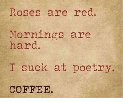 Memes About Mornings   Roses are red. Mornings are hard. I suck at poetry. Coffee.