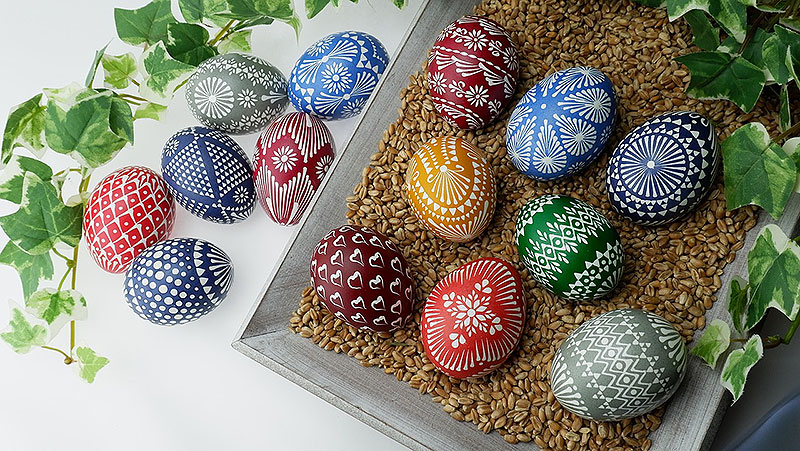 Beautiful Sorbian Painted Easter Eggs