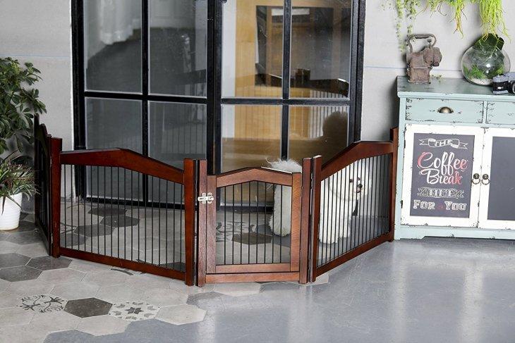 2-in-1 Configurable Decorative Pet Crate & Gate