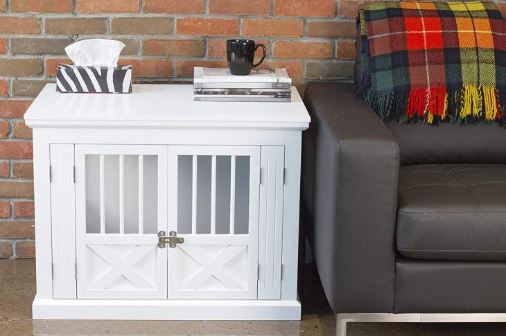 Dutch Door Design White Decorative Dog Crate