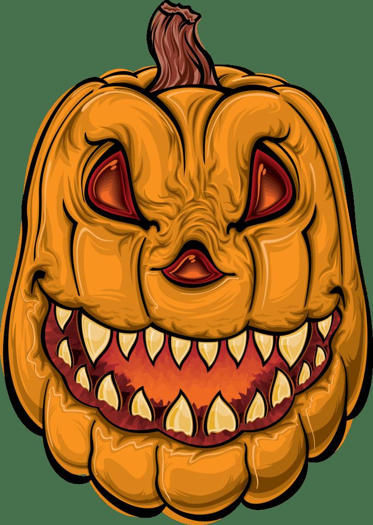 Angry Pumpkin Free Halloween Printable