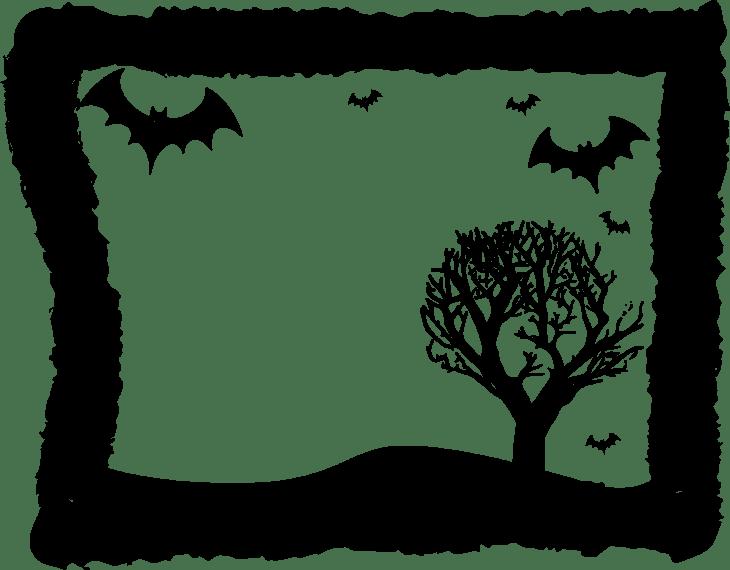 Bat Frame Halloween Printable