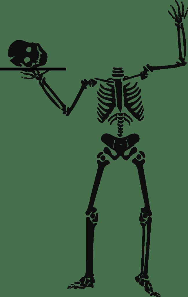 Beheaded Skeleton Free Halloween Printable Clip Art