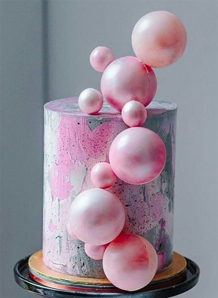 Blowing Bubbles Birthday Cake