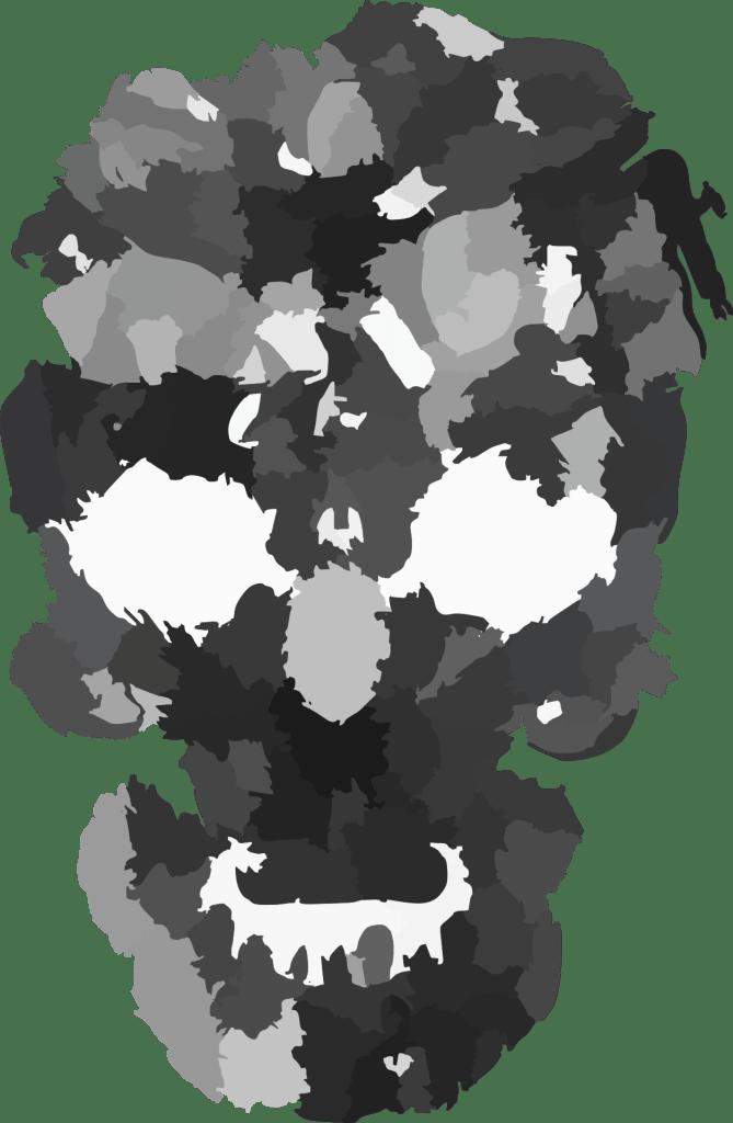 Camo Skull Face Halloween Printable Clip Art