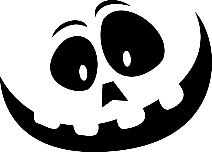 Carved Face Halloween Printable Clipart