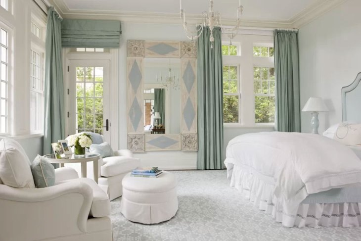 Coastal French Country Bedroom Design